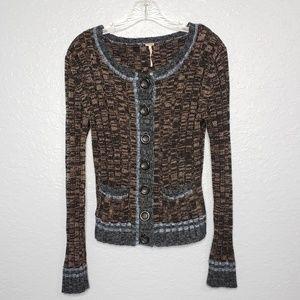 Free People Angora & Wool Blend Knit Cardigan
